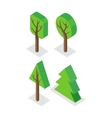 Green Tree Set Icons vector image vector image