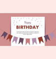 happy birthday card birthday party elements vector image vector image