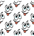 Happy emoticon face seamless pattern vector image
