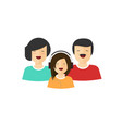 happy family portrait view flat cartoon vector image vector image