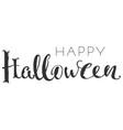 happy halloween handwriting ornate text greeting vector image vector image