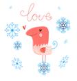 in love bird vector image vector image