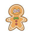 in love christmas ginger bread cookie cartoon vector image