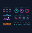 infographic dashboard mockup modern ui interface vector image vector image
