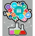 Infographic with science and technology symbols vector image vector image