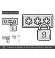 Internet security line icon vector image vector image
