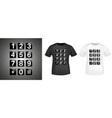 keypad t-shirt print stamp for tee t shirts vector image