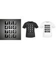 keypad t-shirt print stamp for tee t shirts vector image vector image