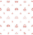 marquee icons pattern seamless white background vector image vector image