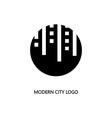 modern city logo vector image vector image