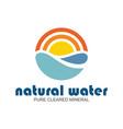 natural water logo vector image vector image