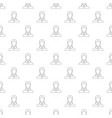 new woman user pattern seamless vector image vector image