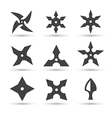 ninja star icon vector image vector image