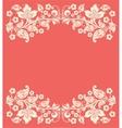 Ornate elegant floral frame vector image vector image