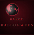 red happy halloween moon night vector image