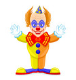 scary and funny clown vector image