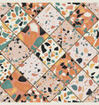seamless terrazzo pattern vector image