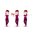 set girl character personage diversity poses vector image vector image