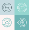 set of badges and emblems in trendy linear style vector image vector image
