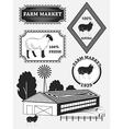 Set of premium lamb labels mutton badges and vector image vector image