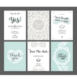 Set of Save the date cards vector image