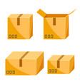 set packing boxes vector image