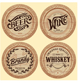 set template wooden barrels for alcoholic bever vector image vector image