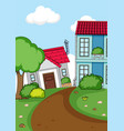 simple rural house background vector image