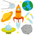 Space set vector | Price: 1 Credit (USD $1)