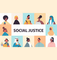 srt mix race people avatars racial equality social vector image vector image