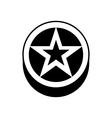 Star In a circle icon simple style vector image