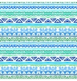 Striped ethnic pattern in vibrant blue and green vector image