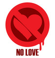 t-shirt design with prohibiting sign and heart vector image vector image