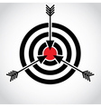 Target and arrows vector image vector image
