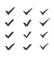 ticks icons vector image vector image