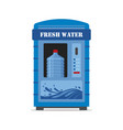 vending machine with fresh water isolated on white vector image