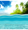 view through the depths of the ocean shore vector image vector image