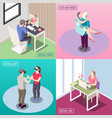 virtual love isometric design concept vector image vector image
