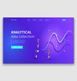 website template landing page isometric concept vector image vector image