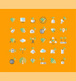 wireless network flat icon set vector image