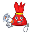 with megaphone wrapper candy character cartoon vector image