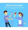 Work in Hotel Banner Design Flat vector image vector image