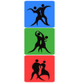 dancing symbol buttons vector image