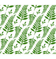 seamless texture with green ferns and leaves for vector image