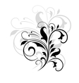 Swirling floral pattern vector image