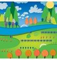 01 sunny landscape river vector image vector image