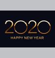 2020 happy new year merry christmas elegant text vector image