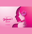 8 march womens day greeting card design vector image vector image