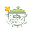 abstract hand drawn culinary logo original design vector image vector image