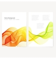Abstract template color flyer vector image vector image